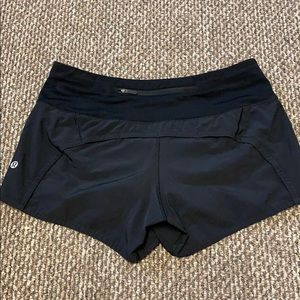 Black Lululemon Running Shorts
